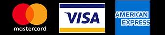 Aceptamos Visa, Mastercard y American Express como método de pago